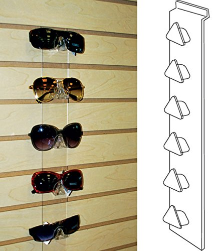 Acrylic Eyewear Sunglass Slatwall Display Optical Store Fixture Lot of 10 - Fixtures Sunglass