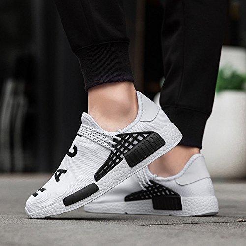 Scarpe Sneaker 39 wealsex Uomo Sportive Casual Senza Banda Lacci delle Bianco Elastica 47 Scarpe Scarpe 5FnqfTwP