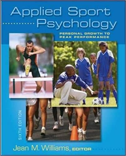 Applied sport psychology: personal growth to peak performance.