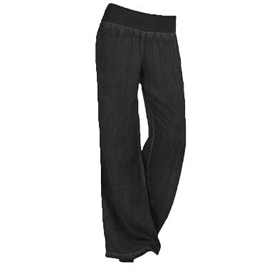FairySu® Womens Loose Pants Plus Size Harem Yoga Pilates Baggy Wide Leg Lounge Elastic Waist