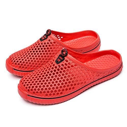 - Foncircle Men Sandal❤️Couple Unisex Hollow Out Casual Beach Sandal Wading Shoe Red