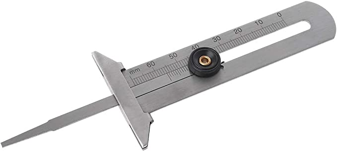 Calibro di profondit/à per Pneumatici Auto 0-60 mm//0-50 mm huiouer in Acciaio Inox Strumento di misurazione per Moto e Camion