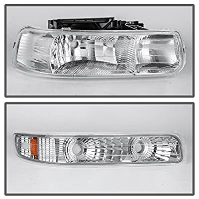 DWVO Headlight Assembly for 99-02 Chevrolet Silverado 1500 2500/01-02 Chevy Silverado 1500HD 2500HD 3500HD / 00-06 Chevy Tahoe Suburban 1500 2500(Not for GMC): Automotive