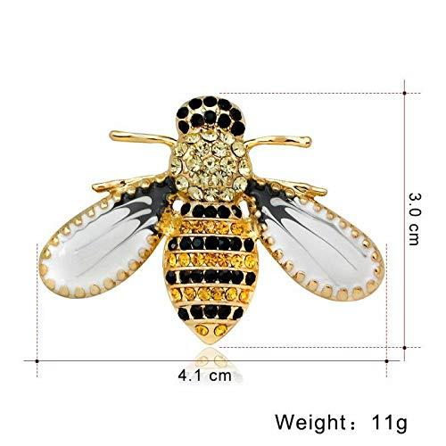 Wholesale Insect Bee Pearl Crystal Rhinestone Enamel Brooch Pin Women Jewelry (Choose Style - 11) -
