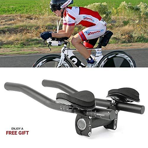 Top Home Dec TT Handlebar Aero Bars Triathlon Time Trial Tri Cycling Bike Rest Handlebar for Bicycle Aerobars