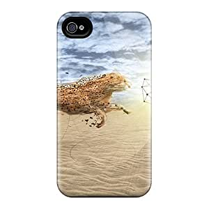 KKm12546vgxw Phone Cases With Fashionable Look For Iphone 5/5s - Cheetah Fight