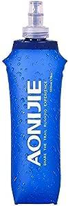 YYTA Foldable Sports BPA PVC Soft Running Water Kettle Soft Hiking Flask Hydration Bottle (500ml)