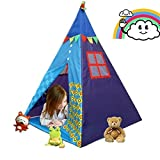 COFFLED Indian Teepee Baby Playhouse For Indoor& Outdoor . Foldable Play Tent For Camping, Family Photograph and Birthday Party Favor