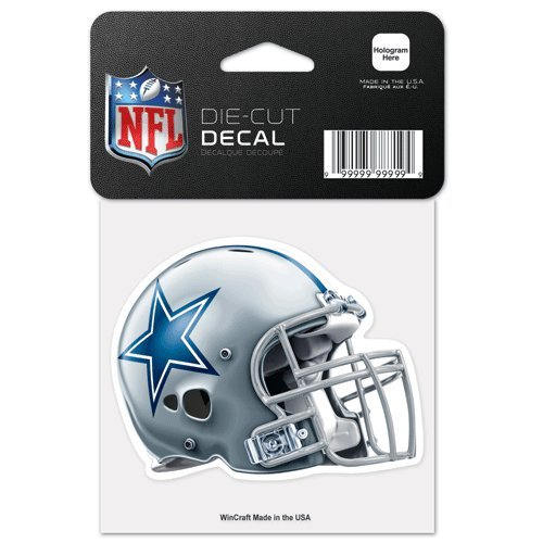 WinCraft Dallas Cowboys 4X4 Die-Cut Helmet Auto Decal Dallas Cowboys Tape Measure
