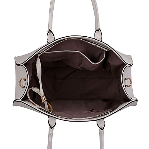 Para mujer bolsas de Body Glove funda rígida de piel sintética diseño de bolso, color blanco, talla L