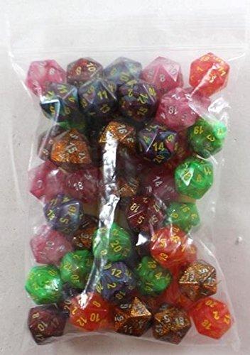 Assorted Polyhedral d20ダイス( 50 )   B0772JBTL4
