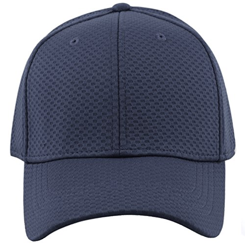 The Hat Depot Cool Mesh One Size Stretch Solid Fitted Cap (Stretch Fit Baseball Cap)