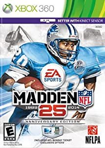 Madden NFL 25 Anniversary Edition with NFL Sunday Ticket -Xbox 360