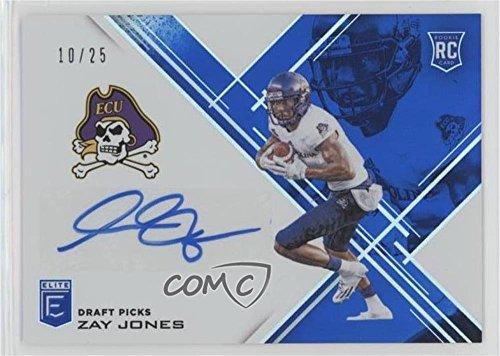 Zay Jones #10/25 (Football Card) 2017 Panini Elite Draft Picks - [Base] - Aspirations Blue Autographs [Autographed] #178