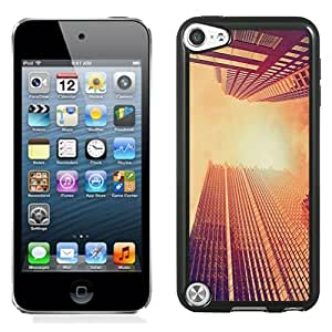 NEW Unique Custom Designed iPod Touch 5 Phone Case With Look Up Skyscrapers Sunset_Black Phone Case