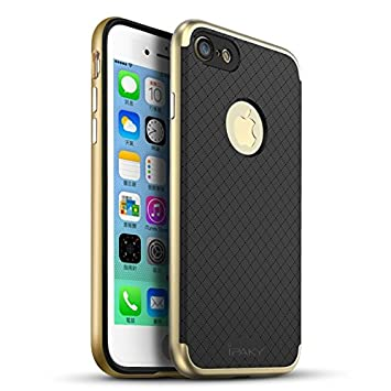 iPaky Hybrid Ultra Thin Shockproof Back + Bumper Case Cover for Apple iPhone 8 / iPhone 7   Gold Cases   Covers
