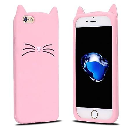 comprare popolare 59de7 a4cb2 Cover iPhone 6S Plus, Custodia iPhone 6 Plus, RosyHeart 3D Gatto Bello  Modello Silicone TPU Morbido Cover per iPhone 6 Plus/6S Plus (5.5 pollici)  ...