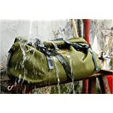 Weatherproof Roll Bag Universal Motorcycle Waterproof Adventure Water Proof Luggage Touring Bag IP5 60L Army Green
