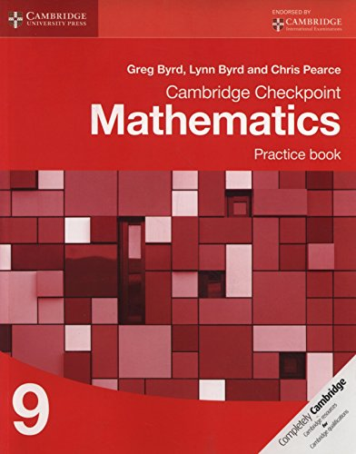 Cambridge Checkpoint Mathematics Practice Book 9 (Cambridge International Examinations)