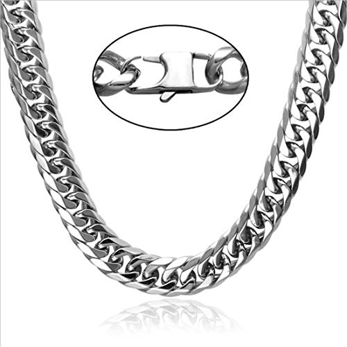 9mm Snake Chain - WELRDFG 18K Gold Plated Necklace with 18K Stamp Men Jewelry 4 Colors 6 MM - 9MM Wide Snake Chain Necklace,18