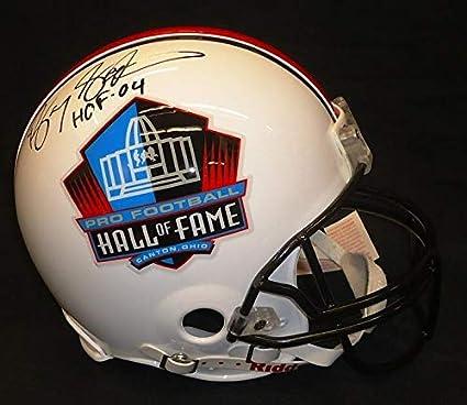 95538b97e Barry Sanders Autographed Hall of Fame Logo Pro Line Helmet with quot HOF  04 - Autographed
