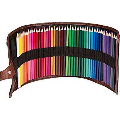 InnoArt - Set of 48 Color Pencils for Artists Contains Quality Art Supplies with Roll Up Washable Bag Artist Pencils & WaterColor Capable for Drawing On Sketch Pads & Art Books