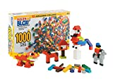 Creative Building Blocks Bulk Pack - Educational Classic Build Learning Toys for Kids - 12 Colors and 14 Different Shapes - Unisex Gift for Birthday and Holidays | 500 or 1000 Pieces Lego Compatible