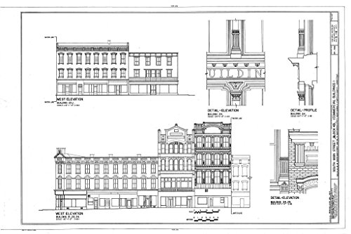 Conn Block - Blueprint Diagram HABS CONN,1-NOWAS,1- (sheet 5 of 6) - South Main Street, Block 43 (Commercial Buildings), South Main & Washington Streets, South Norwalk, Fairfield County, CT 12in x 08in