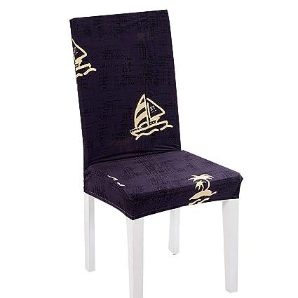 Cubiertas para sillas, decoración navideña Sillas desmontables Cubiertas para sillas elásticas Fundas lavables, para