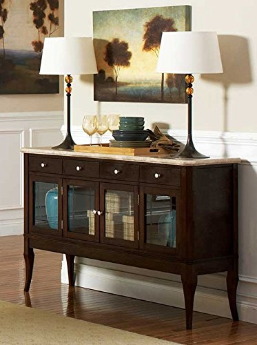 - Steve Silver Company MS850SB Marseille Marble Top Sideboard