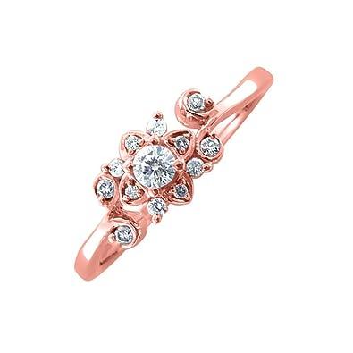 igi certified 14k rose gold diamond wedding ring band 15 carat - Rose Gold Diamond Wedding Ring
