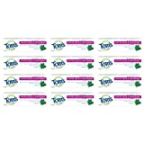 Tom's of Maine Fluoride Free Antiplaque & Whitening Toothpaste, Travel Size Toothpaste, Trial Size Toothpaste, Natural Toothpaste, Peppermint, 1 Ounce, 12-Pack