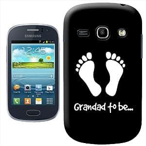 """Fancy A Snuggle - Carcasa rígida para Samsung Galaxy Fame S6810, diseño con texto """"Grandad to be"""", color blanco y negro"""