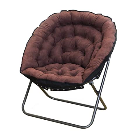 Brilliant Amazon Com Lxla Folding Saucer Chair With Metal Frame Forskolin Free Trial Chair Design Images Forskolin Free Trialorg