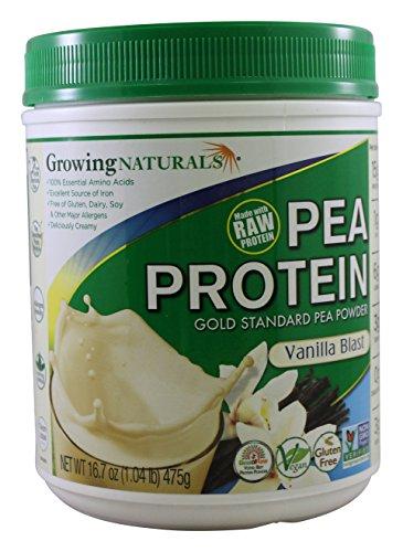 Growing Naturals Growing Naturals Yellow Pea Protein Powder, Vanilla Blast , 1.04 Pound