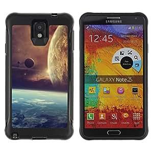 Be-Star único patrón Impacto Shock - Absorción y Anti-Arañazos Funda Carcasa Case Bumper Para SAMSUNG Galaxy Note 3 III / N9000 / N9005 ( Space Planet Galaxy Stars 21 )