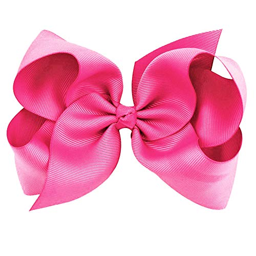 Cover Your Hair Pink Hair Bow - Boutique Hair Bows - Bows for Girls - Grossgrain Bows