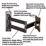 VideoSecu Swivel Tilt Swingout TV Wall Mount