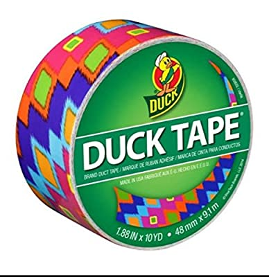 Duck Brand Duct Tape, Colorful Ikat Fever (Pack of 3)