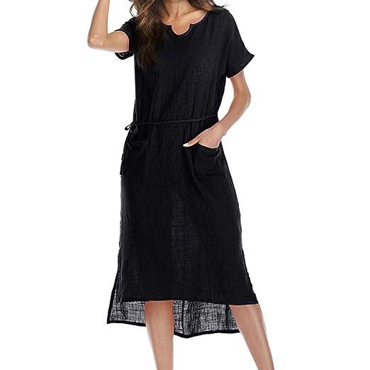 037532529d21b Amazon.com  Leewos 2018 Prime! Casual Plus Size Maxi Dress
