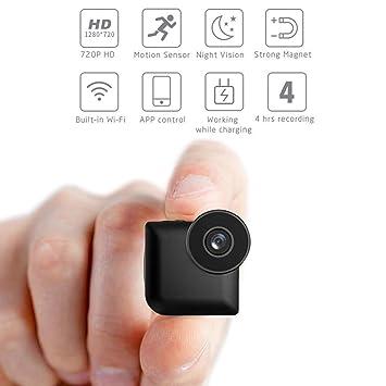 C-Xka Cámara oculta WiFi, cámara espía, cámara mini, HD 720P,