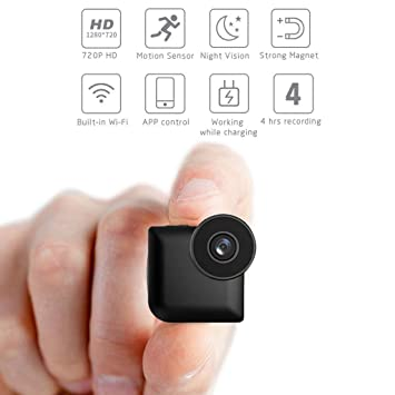 C-Xka Cámara espía WiFi Cámara Oculta Mini Inalámbrico HD 720P Hogar Interior Pequeño Spy