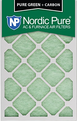 16x20x1PureGreen+C-6 Plus Carbon AC Furnace Air Filters, 6-Piece by Nordic Pure