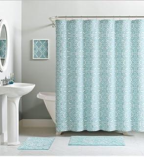 Amazon.com: Raina Printed Metallic Shower Curtain 72x72\