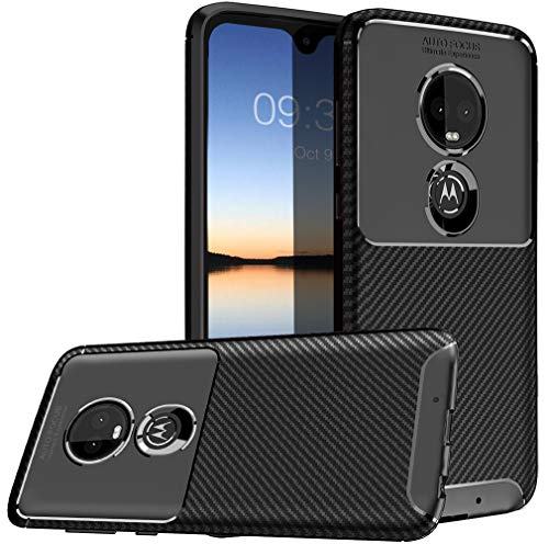 Moto G7 Case, Sunnyw Flexible Soft TPU Shockproof Durable Armor Slim Fit Case Cover for Motorola Moto G7 (Black)