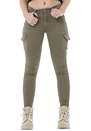 a great variety of models top-rated genuine most popular Redial New Womens Army Green Slim Skinny Stretch Combat ...