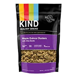 KIND Healthy Grains Clusters 11 OZ (Maple Quinoa with Chia Seeds, Pack of 2)