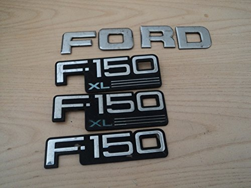 92-96 Ford F150 Xl Side Door Fender F2tb-16b114-aa Rear Emblem Logo Symbol Decorative Mopar Set of 4 Logos Fender 94 95 96 Car