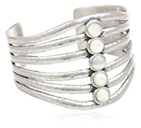 """Lucky Brand Silver Mother of Pearl Cuff Bracelet, 3.50"""" by Lucky Brand"""