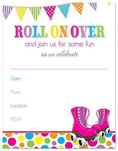 Roller Skates Bright Birthday Invitations product image